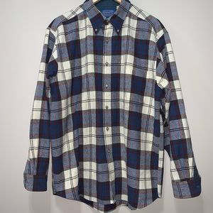 Pendleton Plaid 100% Pure Virgin Wool Button Up